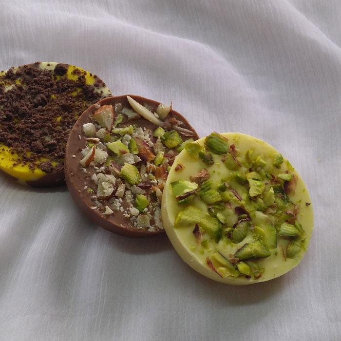 Dryfruit Disk handmade Cholocates